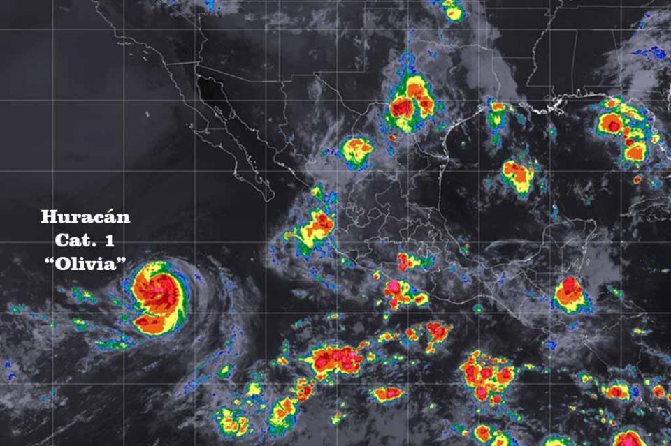 Huracán Olivia se ubica en la Península de Baja California sin afectar al país