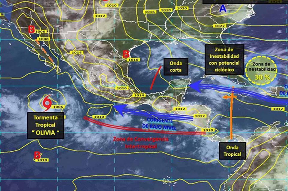 Depresión tropical se convierte en tormenta tropical Olivia