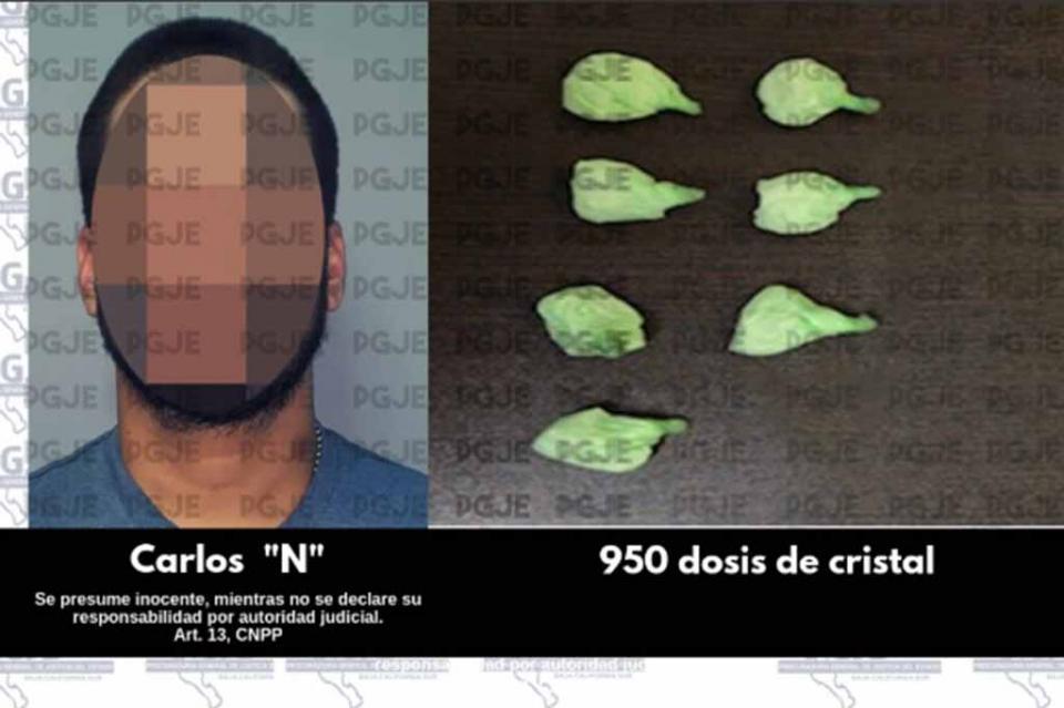 Detienen a un hombre en posesión de metanfetaminas en Santa Rosalía