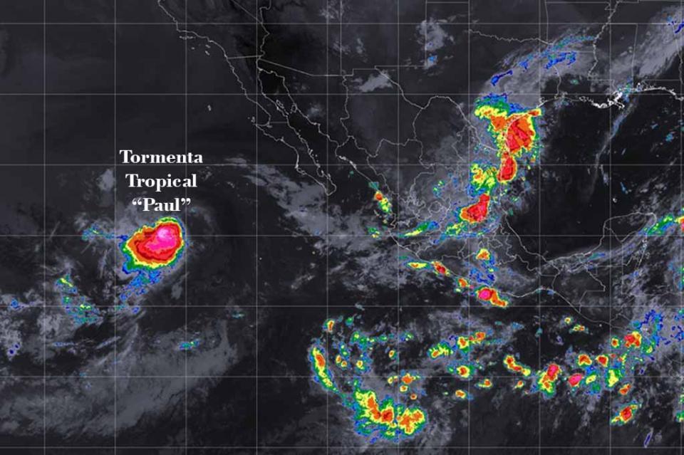 Tormenta Tropical Paul se localiza al oeste-suroeste de Baja California Sur