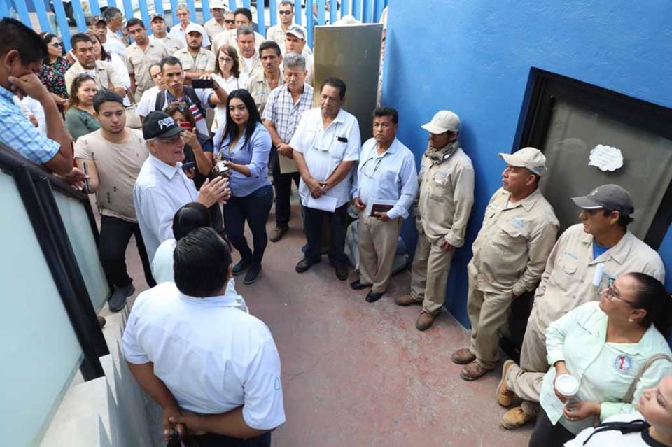 Total agradecimiento a la solidaridad del personal de OOMSAPASLC: Ramón Ojeda Mestre, director general