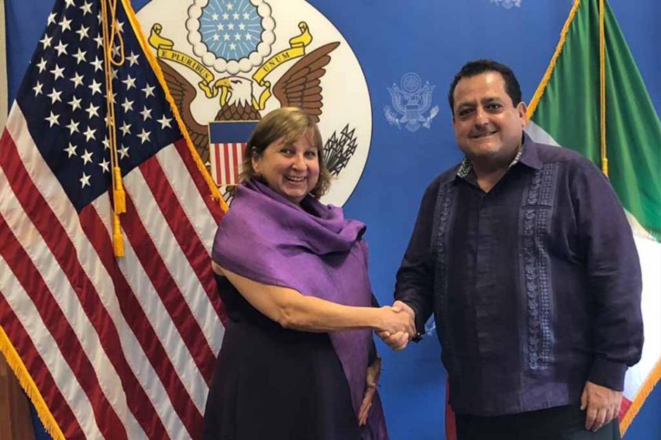 Se reúnen gobernador y cónsul general de los Estados Unidos en Tijuana