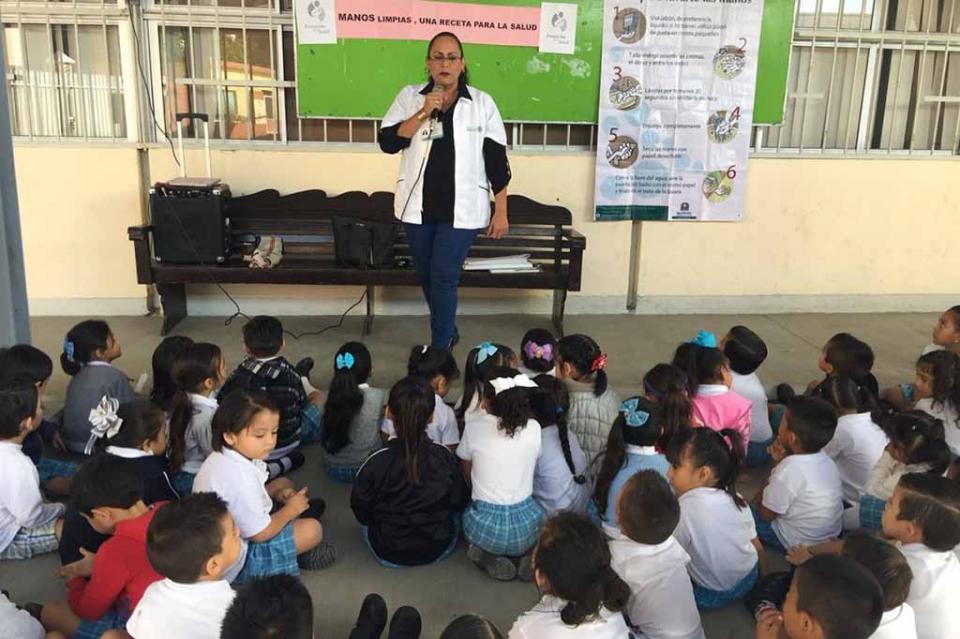 Fomenta Secretaría de Salud hábitos de higiene en niños de preescolar