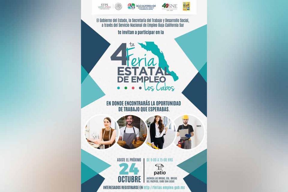 Iniciará este miércoles la 4ta Feria Estatal de empleo Los Cabos