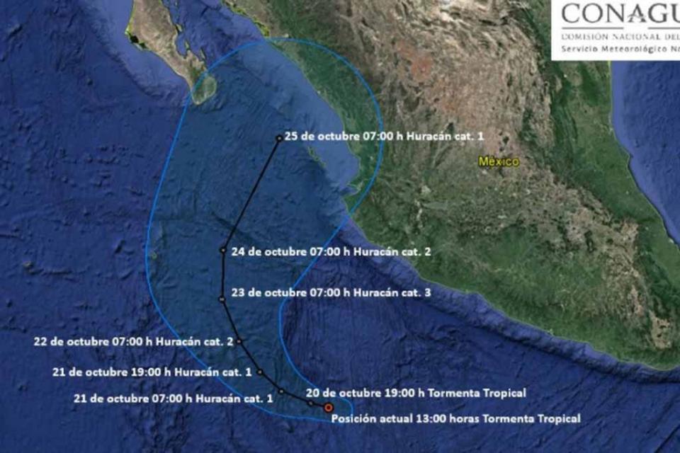 Se formó la tormenta tropical Willa en el Océano Pacífico