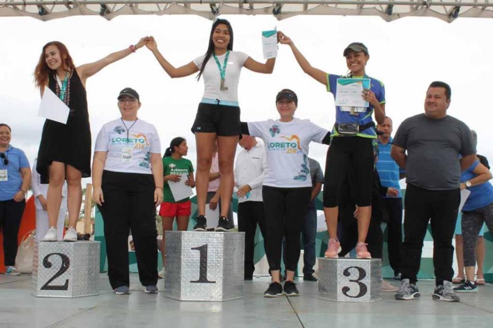 Todo un éxito el 3er Medio Maratón 21K Loreto 2018, informa Arely Arce