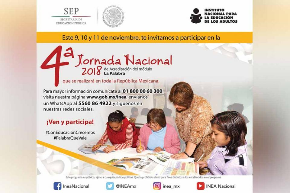 Inicia la Cuarta Jornada acreditación de educación para adultos