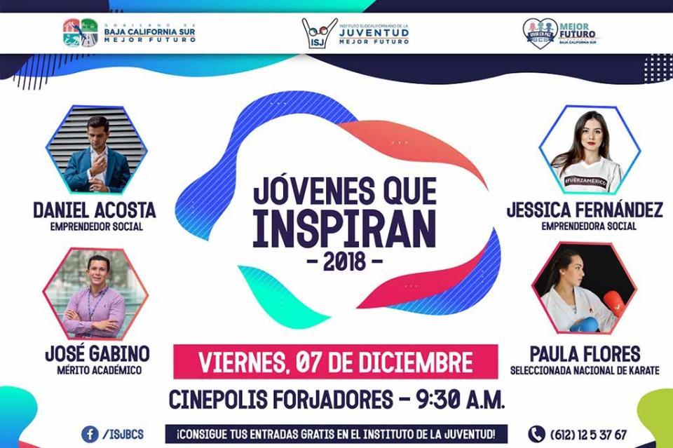 """Organiza Instituto Sudcaliforniano de la Juventud segunda edición del Foro """"Jóvenes que Inspiran"""""""