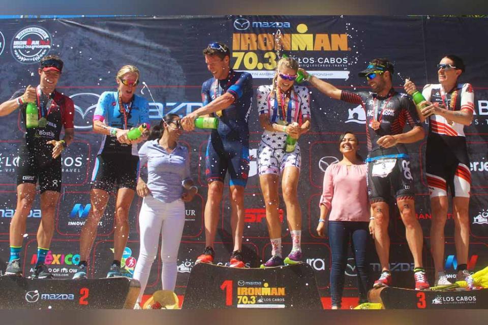 """Primeros lugares de """"Ironman Los Cabos"""" se fueron para Australia"""