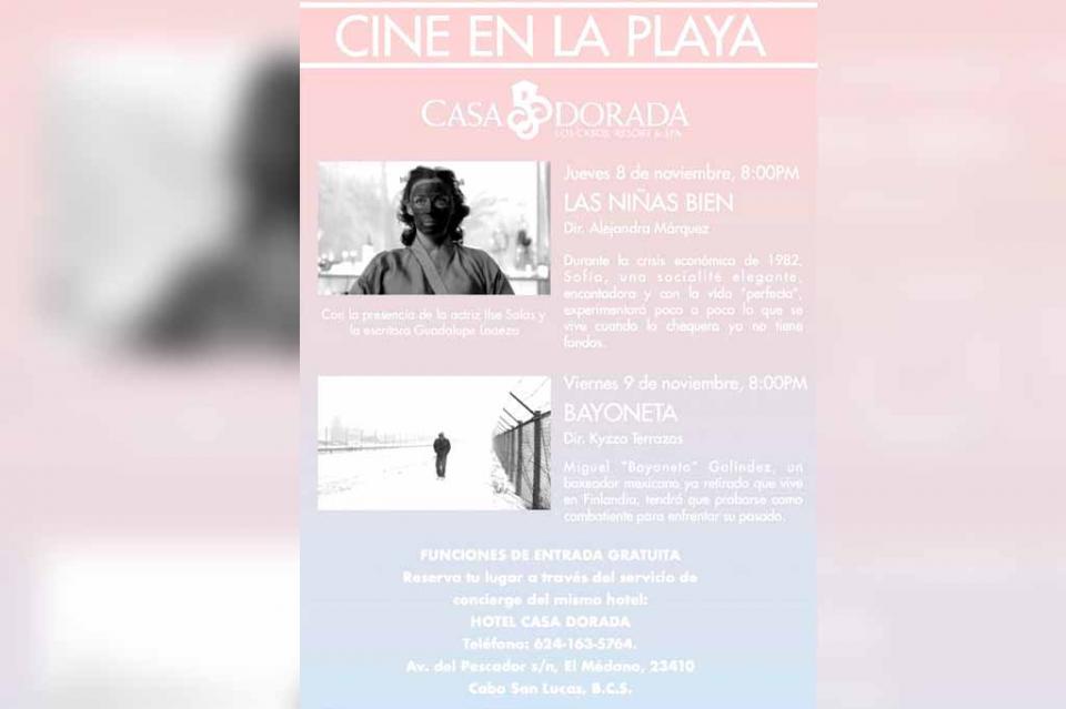 El Festival Internacional de Cine de Los Cabos se prepara para sus primeras funciones en playa