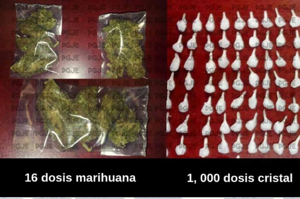 Detienen a hombre con mil dosis de droga en Santa Rosalía