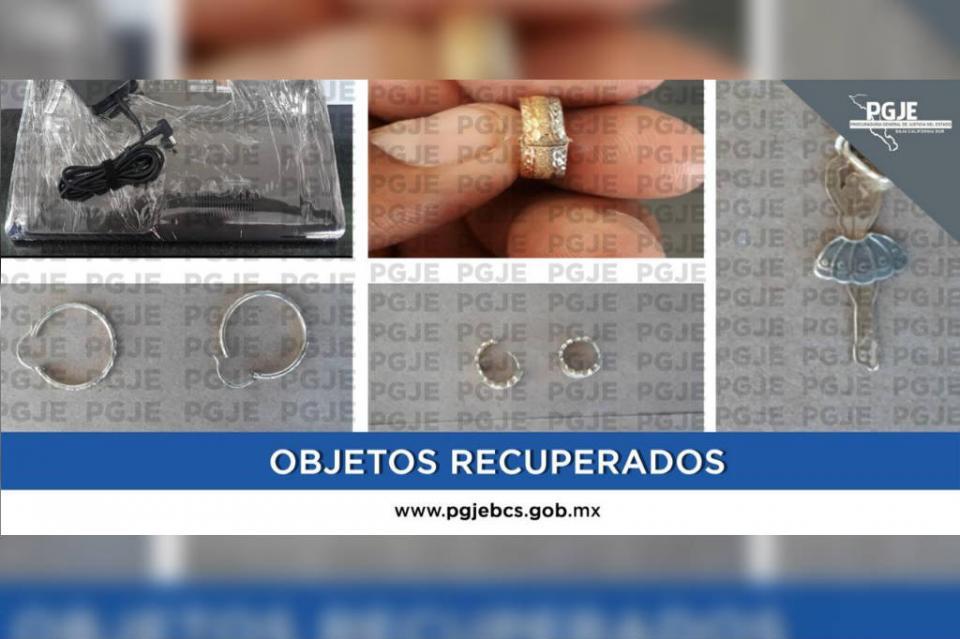 Recupera PGJE objetos robados de casa de empeño en La Paz