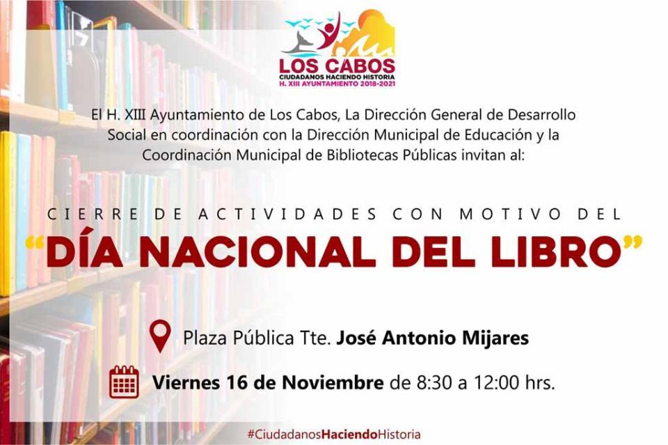 Gobierno de Los Cabos invita a las actividades con motivo del Día Internacional del Libro