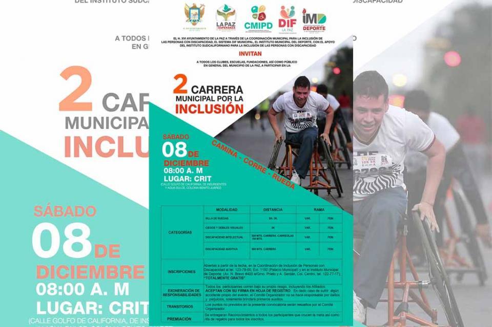 Invitan a la segunda Carrera  Municipal por la Inclusión