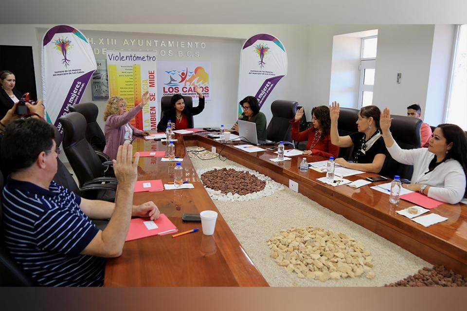 Sesiona junta de Gobierno del Instituto de Las Mujeres
