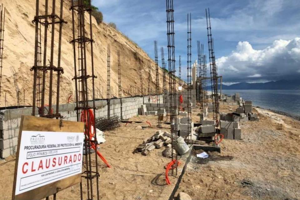 Ordena Profepa demolición de construcción en zona federal marítimo terrestre de El Sargento