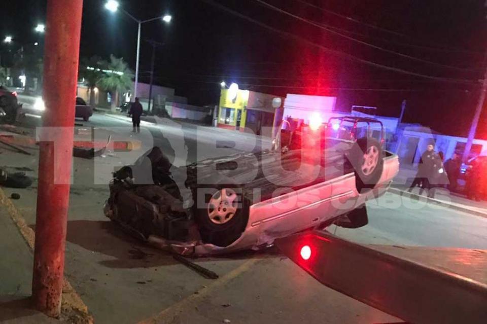 Aparatoso accidente deja un saldo de cuarto lesionados en Guerrero Negro
