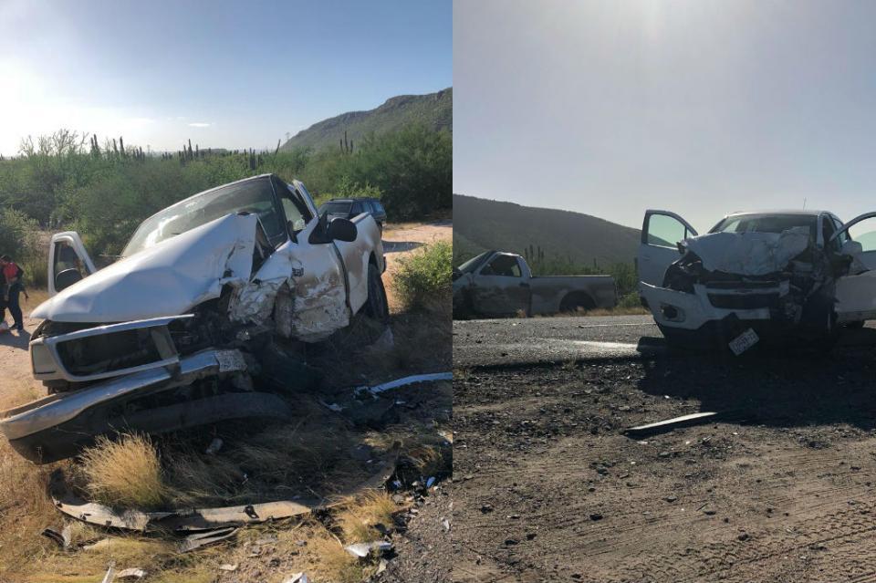 Chocan de frente vehículos en carretera a Los Planes dejando al menos 5 lesionados
