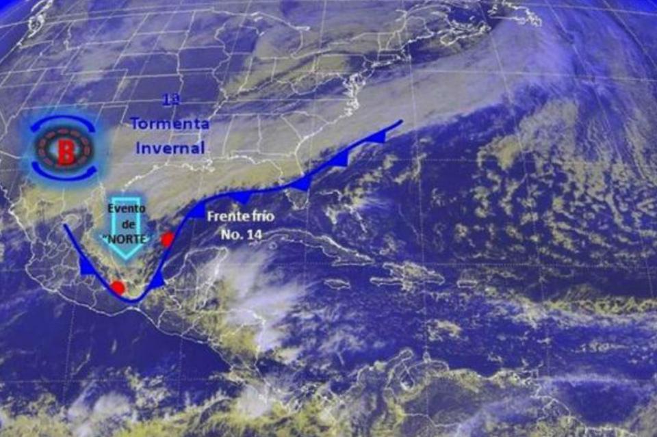 Frente frío número 14 traerá más lluvias y bajas temperaturas