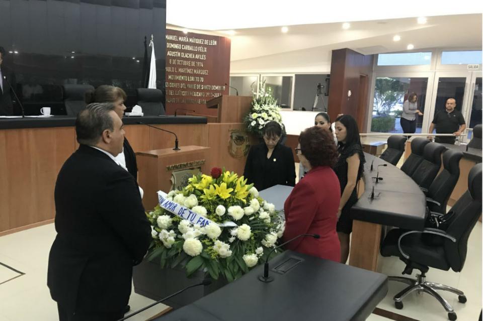 Rinde homenaje el Congreso del Estado a Rodolfo Garayzar Anaya