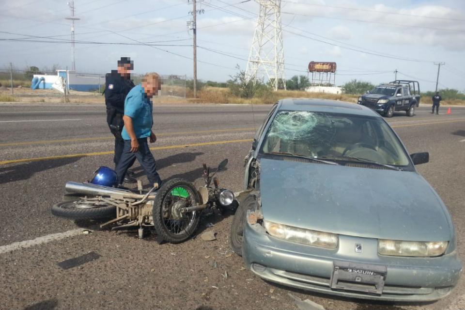 Accidente de tránsito deja grave a motociclista en carretera al sur