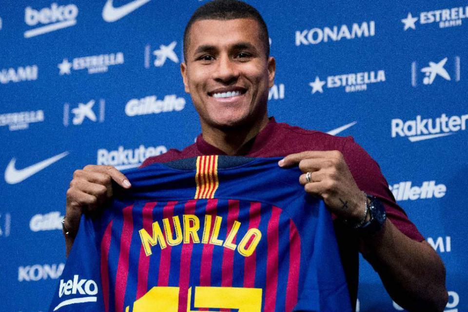 Barcelona presenta de manera oficial a defensa colombiano Jeison Murillo
