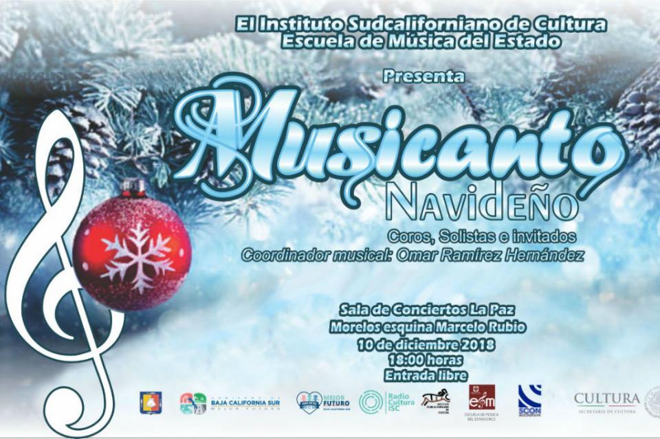 """Escuela de Música del Estado presenta """"Musicanto Navideño 2018"""""""