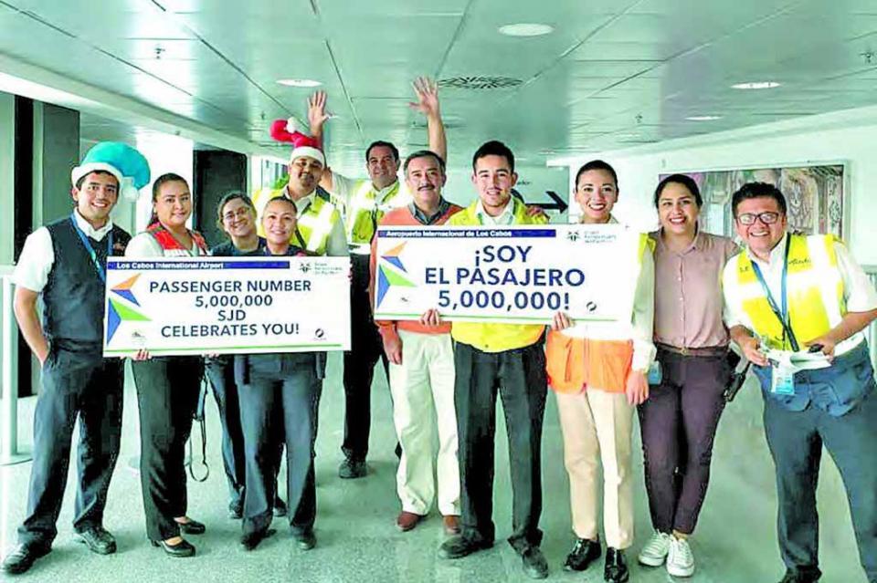 Llega Aeropuerto Internacional de Los Cabos a los 5 millones de pasajeros: Francisco Villaseñor
