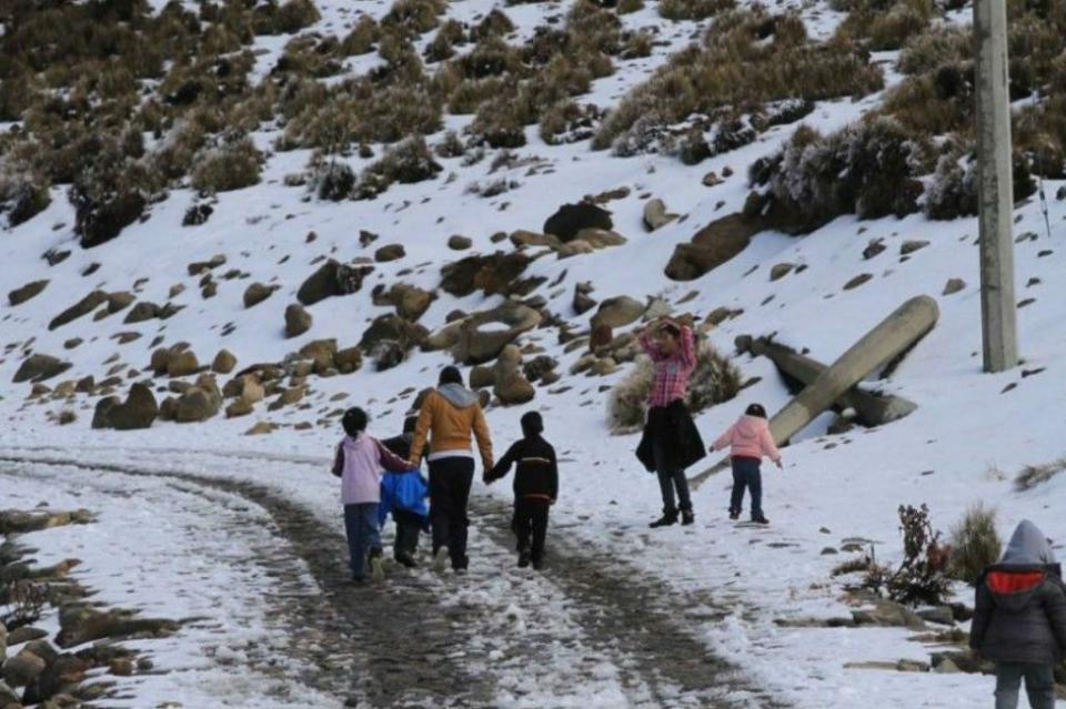 Sierra del noreste de Sonora registra temperatura de menos dos grados