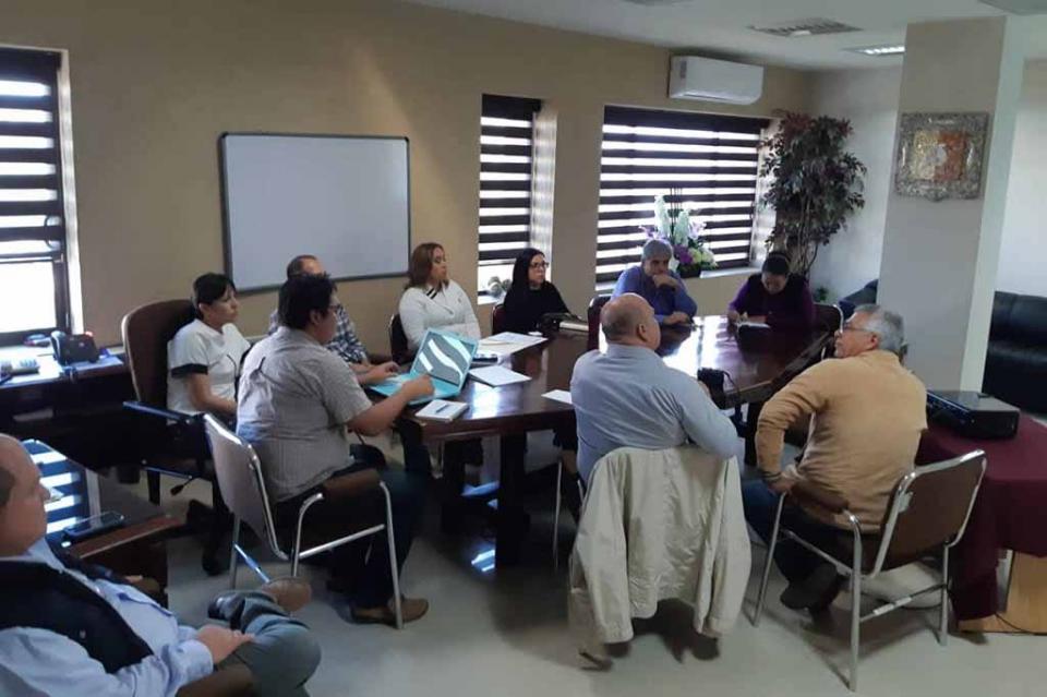 Se reúne Diputada Milena Quiroga Romero con los titulares de área del Congreso del Estado de BCS