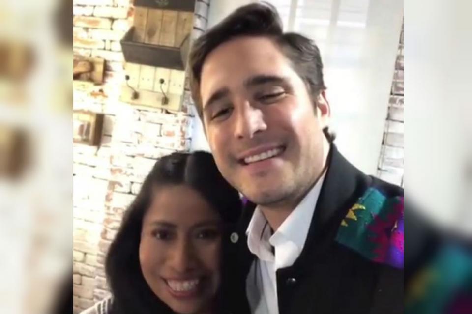 Diego Boneta y Yalitzia Aparicio preparan sorpresa juntos