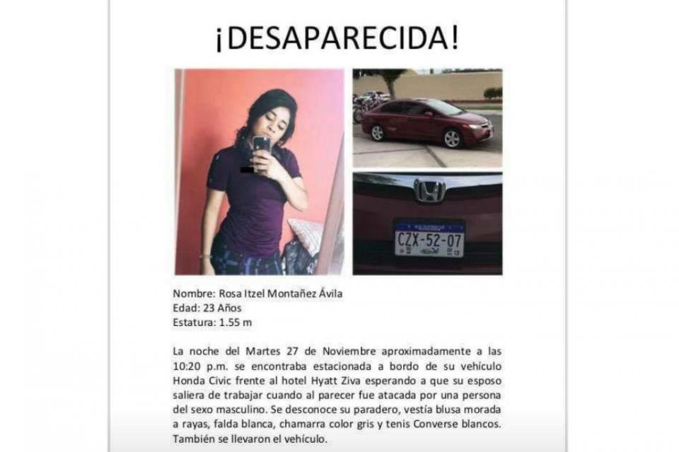 Rosa Itzel Montañez Avilés cumple 1 mes desaparecida, familiares exigen su búsqueda