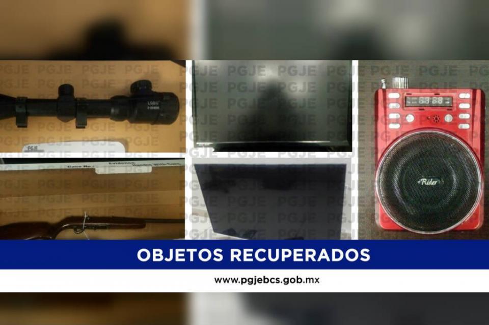 Continúa recuperación de objetos robados en Loreto y Comondú