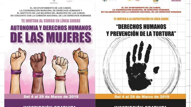 Coordinación Municipal de Derechos Humanos invita al primer periodo de capacitaciones gratuitas en línea
