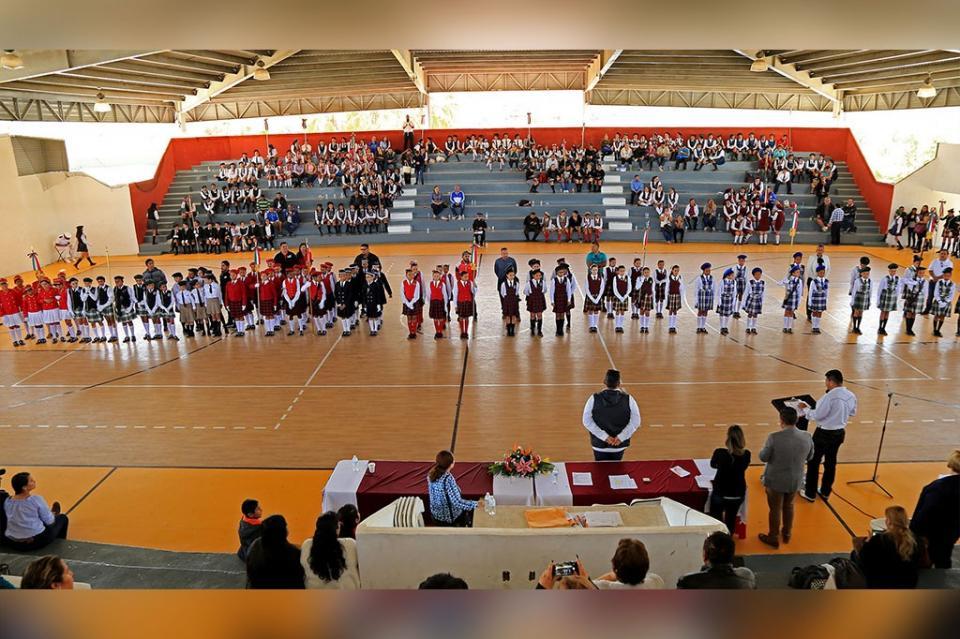 Gobierno de Los Cabos realiza Concurso Municipal de Escoltas en marco del día de la Bandera Nacional