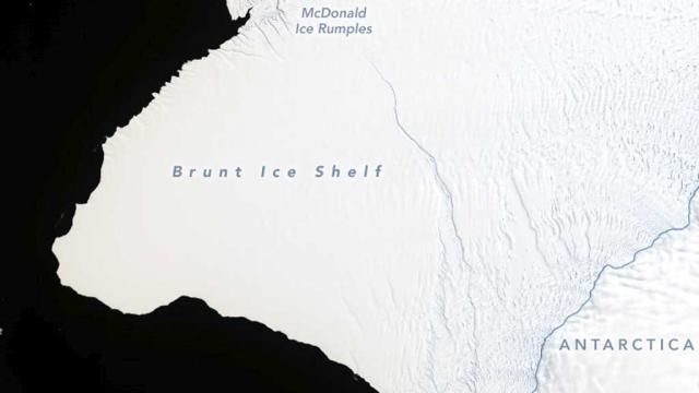 Advierten sobre futuro desprendimiento de iceberg en la Antártida