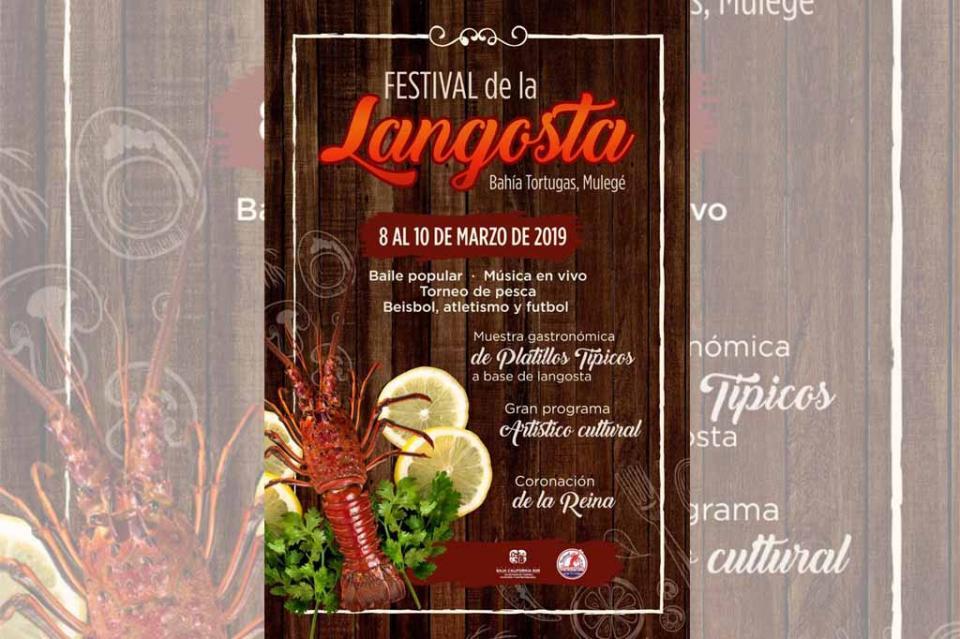 Invita SETUES a Festival de la Langosta en Mulegé