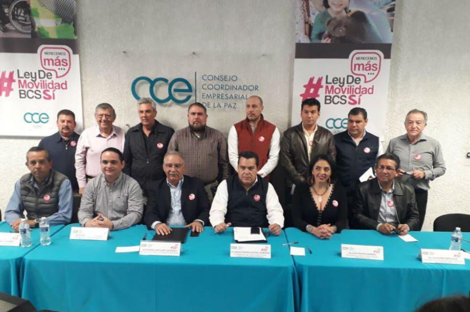 Consejo Coordinador de La Paz anuncia campaña masiva a favor de Ley de Movilidad