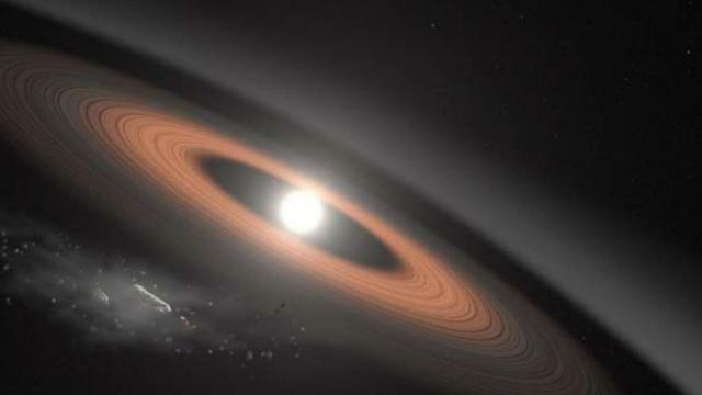 Descubren la estrella enana blanca más antigua rodeada de anillos