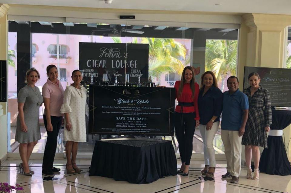 Con evento de recaudación Black and White fundación Letty Coppel va por Centro de Rehabilitación Infantil en Los Cabos