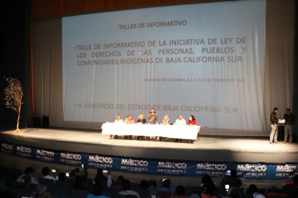 """Gobierno de Los Cabos a favor de la """"Iniciativa de Ley de Derechos de las Personas, Pueblos y Comunidades Indígenas"""""""