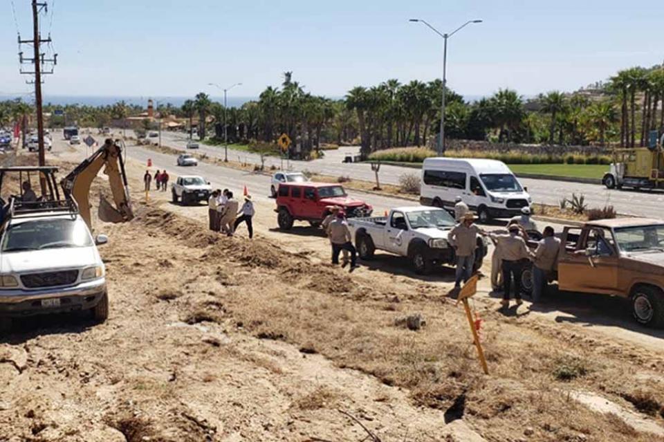 De manera oportuna atiende Oomsapas Los Cabos ruptura del acueducto II