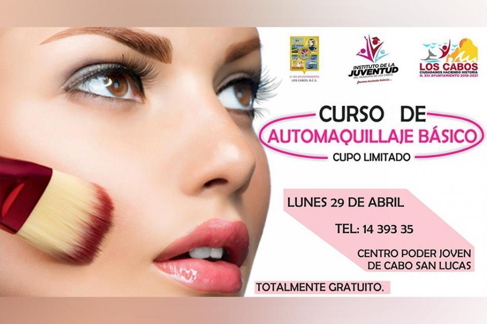Instituto de la Juventud en CSL invita a participar en el Curso de Automaquillaje Básico
