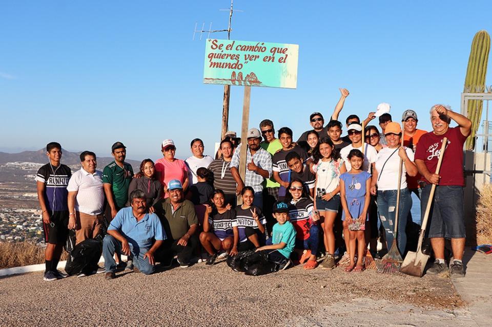 Trabajando en equipo se le brindó una mejor imagen al Cerro de la Z en CSL