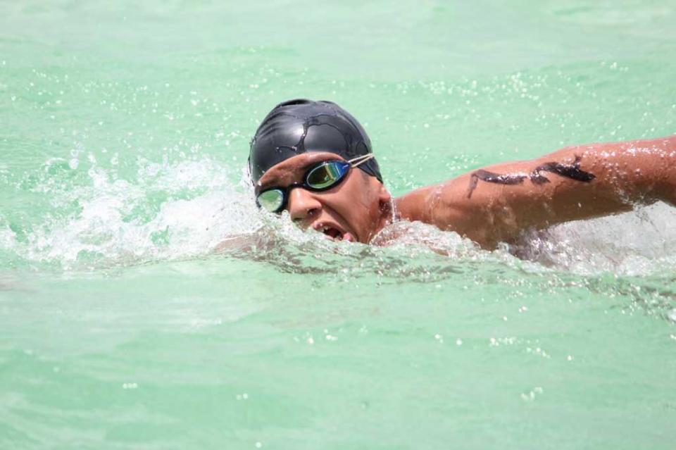Nadadores en aguas abiertas a la Olimpiada Nacional