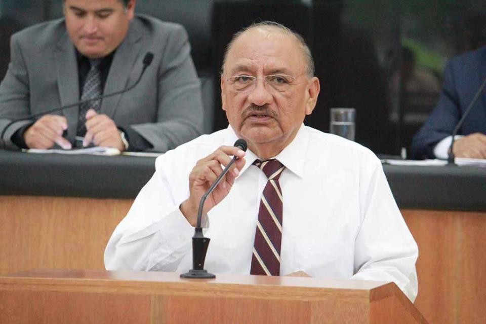 Dip. Esteban Ojeda a nombre de la bancada de Morena en el Congreso del Estado respalda política de AMLO