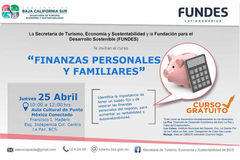 Invita SETUES a curso de finanzas personales y familiares