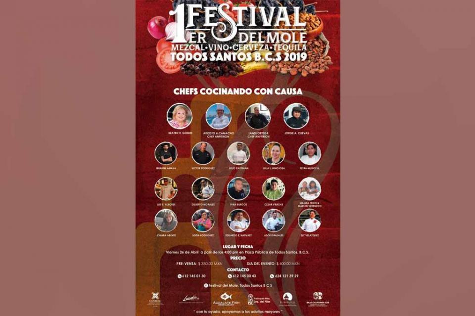 Invita SETUES a primer Festival del Mole en Todos Santos
