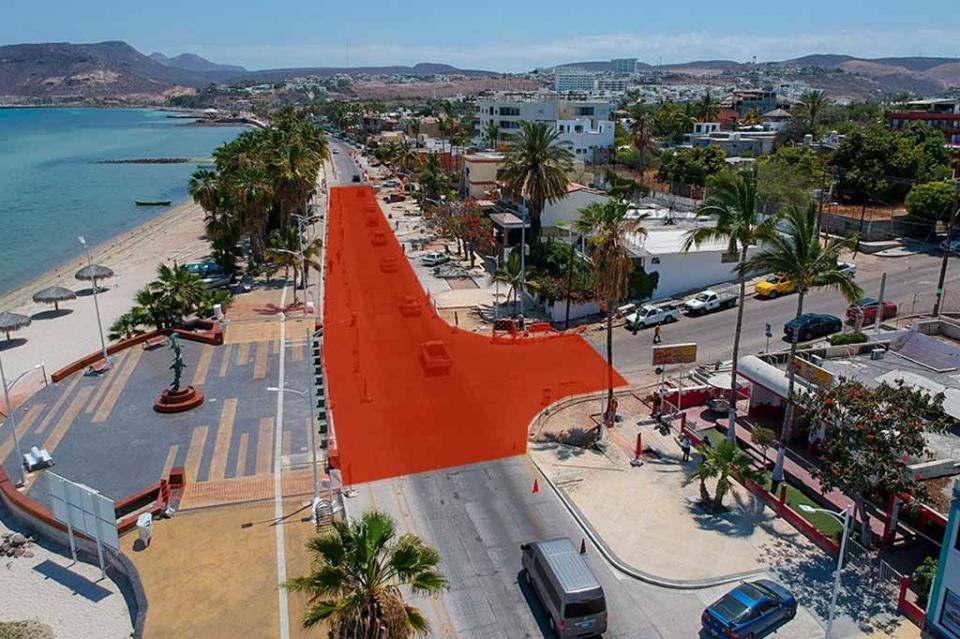 A partir de este lunes 3 de Junio se cerrará parcialmente el malecón costero de La Paz