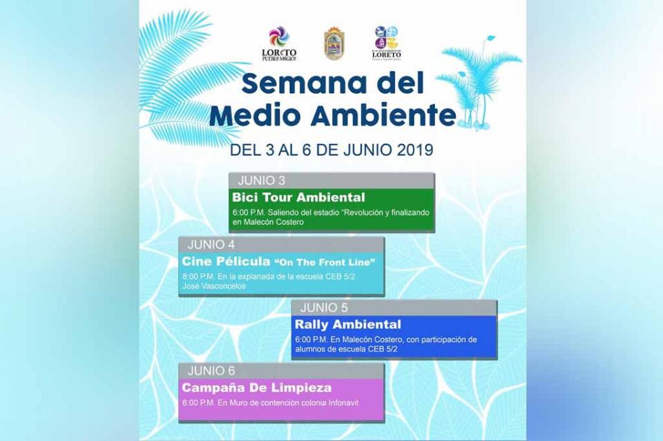 Invita SETUES a semana del medio ambiente en Loreto